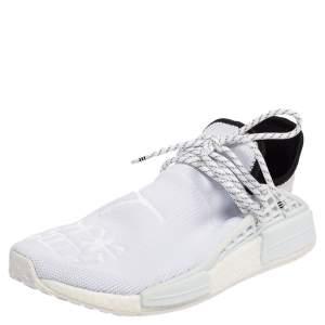 Pharrell Williams x Adidas White Fabric Hu Race NMD Sneakers Size 46