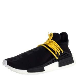 Pharrell x Adidas Human Race NMD Black Cotton Knit Sneakers Size 43.5