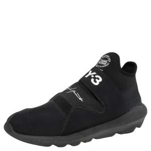 Y3 x Adidas Black Fabric And Mesh Suberou Sneakers Size 46