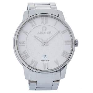Aigner White Stainless Steel Padua A24000 Men's Wristwatch 42 mm