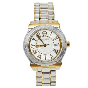 Aigner Silver Two-Tone Stainless Steel Bolzano A24134 Men's Wristwatch 34.50 mm