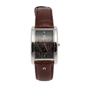 Aigner Brown Stainless Steel Modena Nudo A16100 Men's Wristwatch 30 mm