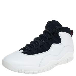 "Air Jordan 10 Retro ""I'm Back"" Summit White Sneakers Size 47.5"
