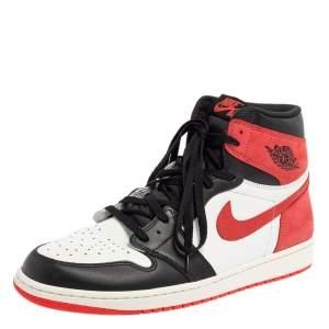 Air Jordan Tricolor Leather Air Jordan 1 Retro High Top Sneakers Size 47.5