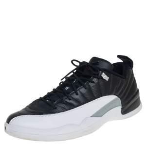 Air Jordan 12 Retro Low Black/White Playoffs Sneakers Size 47.5