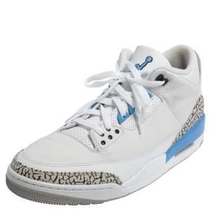 Air Jordan 3 Retro UNC Carolina Blue Sneakers Size 47.5