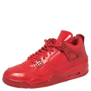 Air Jordan 4 Red Patent Leather 11Lab4 Sneaker Size 46