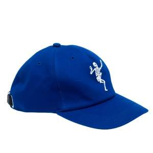 Alexander McQueen Blue Cotton Dancing Skeleton Baseball Cap L