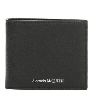 Alexander McQueen Black Leather Money Clip
