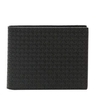 Salvatore Ferragamo Black Leather nero Gancini Bi-fold Wallet