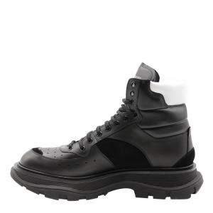 حذاء بوت أليكساندر ماكوين جلد أسود برباط مقاس أوروبي 41