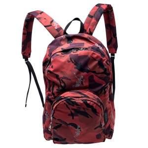 حقيبة ظهر هيكل عظمي راقص نايلون أحمر
