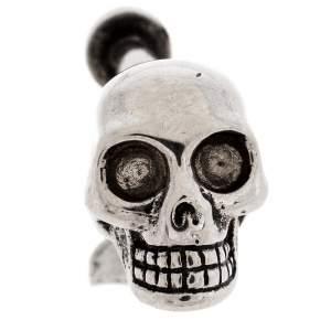 Alexander McQueen Silver Tone Single Skull Earring