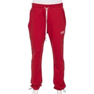 Amiri Red Knit Core Logo Sweatpants L