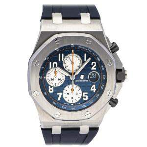 Audemars Piguet Blue Stainless Steel Royal Oak Offshore Chronograph 26470ST.OO.A027CA.01 Men's Wristwatch 42 MM