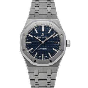 Audemars Piguet Blue Stainless Steel Royal Oak 15450ST.OO.1256ST.03 Men's Wristwatch 37 MM