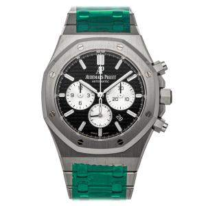 Audemars Piguet Black Stainless Steel Royal Oak Chronograph 26331St.Oo.1220St.02 Men's Wristwatch 41 MM