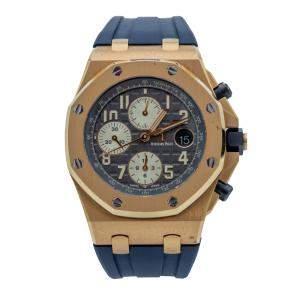 Audemars Piquet Royal Oak Offshore Rose Gold Grey Dial Chronograph Watch 42 MM