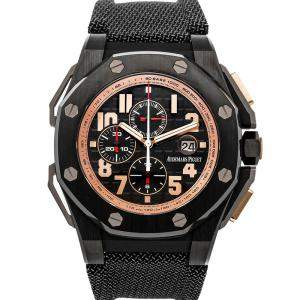 Audemars Piguet Black Ceramic Royal Oak Offshore Arnold Schwarzenegger The Legacy Chronograph 26378IO.OO.A001KE.01 Men's Wristwatch 48 MM