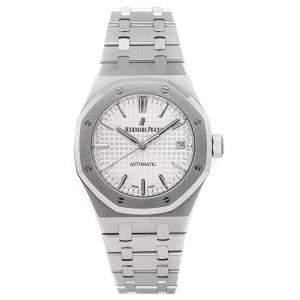 Audemars Piguet Silver Stainless Steel Royal Oak 15450ST.OO.1256ST.01 Men's Wristwatch 37 MM