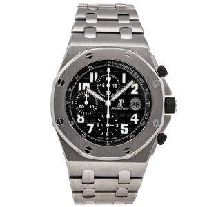 Audemars Piguet Black Titanium Royal Oak Chronograph 25721TI.OO.1000TI.06 Men's Wristwatch 42 MM