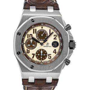 Audemars Piguet Brown Stainless Steel Royal Oak Offshore Chronograph 26470ST.OO.A801CR.01 Men's Wristwatch 42 MM