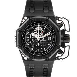 Audemars Piguet Black Titanium And Ceramic Royal Oak Offshore Survivor Chronograph 26165IO Men's Wristwatch 42 MM