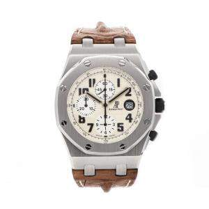 "Audemars Piguet Silver Stainless Steel Royal Oak Offshore Chronograph ""Safari"" 26170ST.OO.D091CR.01 Men's Wristwatch 42 MM"