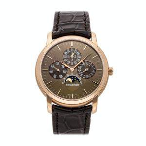 Audemars Piguet Brown 18K Rose Gold Jules Audemars Perpetual Calendar 26390OR.OO.D093CR.01 Men's Wristwatch 41 MM