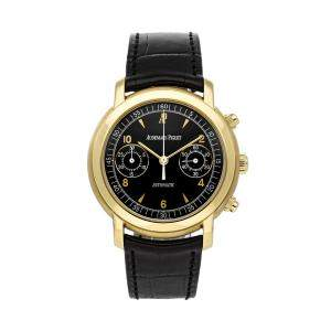 Audemars Piguet Black 18K Yellow Gold Jules Audemars 25859BA.OO.D001CR.01 Men's Wristwatch 39 MM