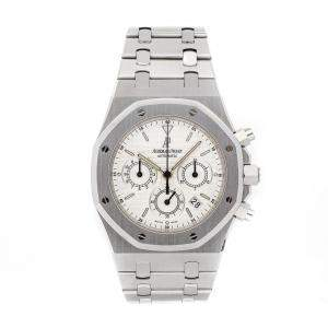 Audemars Piguet Silver Stainless Steel Royal Oak Chronograph 25860ST.OO.1110ST.05 Men's Wristwatch 39 MM