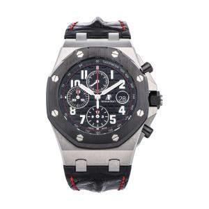 Audemars Piguet Black Stainless Steel Royal Oak Offshore Chronograph 26470SO.OO.A002CA.01 Men's Wristwatch 42 MM