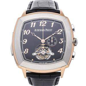 Audemars Piguet Black 18K Rose Gold Tradition Minute Repeater Tourbillon Chronograph 26564RC.OO.D002CR.01 Men's Wristwatch 47 MM