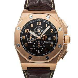 Audemars Piguet Brown 18K Rose Gold Royal Oak Offshore Arnold's All Stars Governor's Edition 26159OR.OO.A801CR.01 Men's Wristwatch 48 MM