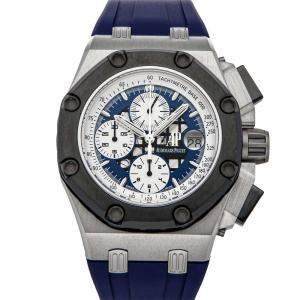 Audemars Piguet Blue Platinum Royal Oak Offshore Chronograph Rubens Barrichello II 26078PO.OO.D018CR.01 Men's Wristwatch 44 MM