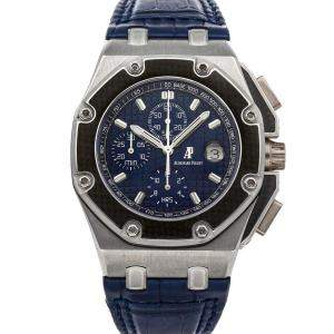 Audemars Piguet Blue Platinum Royal Oak Offshore Juan Pablo Montoya Chronograph 26030PO.OO.D021IN.01 Men's Wristwatch 42 MM