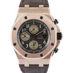 Audemars Piguet Grey 18K Rose Gold Royal Oak Men's Wristwatch 42 MM