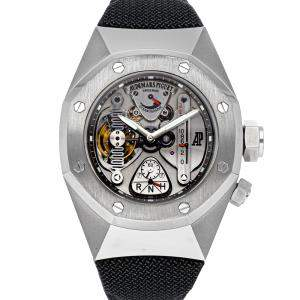 Audemars Piguet Black titanium Alacrite Concept Watch 1 Royal Oak Tourbillon 25980AI.OO.D003SU.01 Men's Wristwatch 44 MM