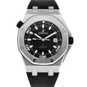 Audemars Piguet Black Stainless Steel Royal Oak Offshore 100 Jahre Wempe Limited Edition 15340ST.OO.D002CA.01 Men's Wristwatch 42 MM