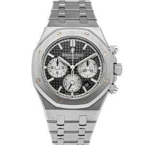 Audemars Piguet Black Stainless Steel Royal Oak Chronograph 26315ST.OO.1256ST.02 Men's Wristwatch 38 MM