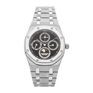 Audemars Piguet Blue Stainless Steel Royal Oak Perpetual Calendar 25820SP.OO.0944SP.02 Men's Wristwatch 39 MM