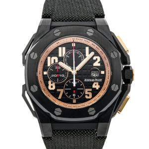 Audemars Piguet Black Titanium And Ceramic Royal Oak Offshore Arnold Schwarzenegger The Legacy Chronograph Limited Edition 26378IO.OO.A001KE.01 Men's Wristwatch 48 MM