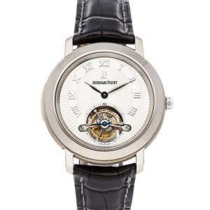 Audemars Piguet Silver Titanium Jules Audemars Tourbillon Minute Repeater Limited Edition  26072TI.OO.D002CR.01 Men's Wristwatch 39 MM