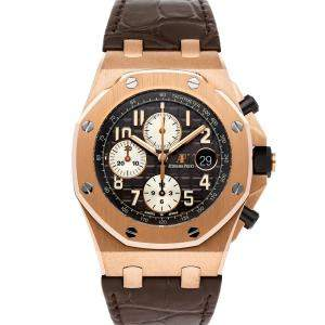 Audemars Piguet Black 18K Rose Gold Royal Oak Offshore Chronograph 26470OR.OO.A125CR.01 Men's Wristwatch 42 MM