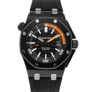 Audemars Piguet Black Ceramic Royal Oak Offshore Diver 15707CE.OO.A002CA.01 Men's Wristwatch 42 MM