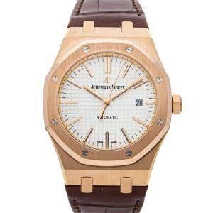 Audemars Piguet Silver 18K Rose Gold Royal Oak 15400OR.OO.D088CR.01 Men's Wristwatch 41 MM