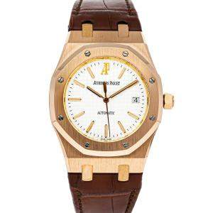 Audemars Piguet Silver 18K Rose Gold Royal Oak 15300OR.OO.D088CR.02 Men's Wristwatch 39 MM