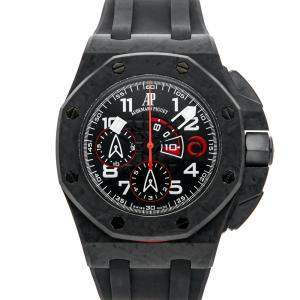 Audemars Piguet Black Carbon Fiber Royal Oak Offshore Team Alinghi Limited Edition 26062FS.OO.A002CA.01 Men's Wristwatch 44 MM