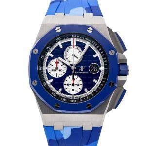Audemars Piguet Blue Stainless Steel Royal Oak Offshore Chronograph 26400SO.OO.A335CA.01 Men's Wristwatch 44 MM
