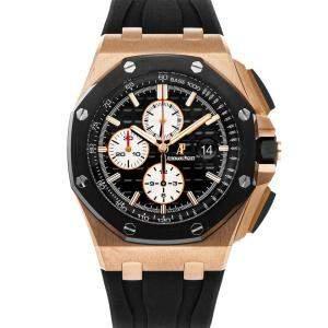 Audemars Piguet Black 18K Rose Gold Royal Oak Offshore Chronograph 26400RO.OO.A002CA.01 Men's Wristwatch 44 MM